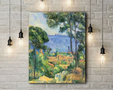 Paul Cezanne: L'estaque. Fine Art Canvas.